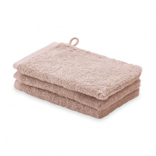Waschhandschuh 3er Pack 16x22 London Aquanova Farbe Altrosa Dusty Pink