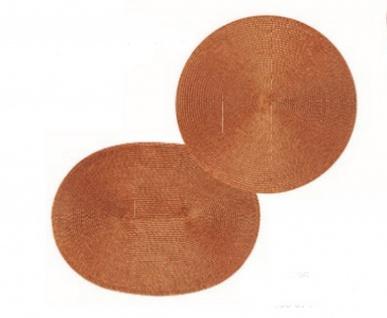 Tischset Platzmatte Kupfer Orange Glitzer Rund oder Oval