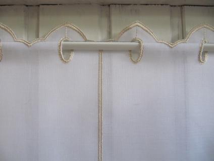 Scheibengardine Weiß, weiß matt oder Sekt Welle zarter Stick 45 cm H / Br. ab 1 Meter - Vorschau 2