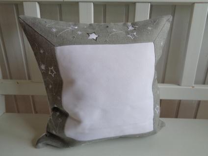 Kissen Weihnachten Grau Silber Sternchen 40x40 ohne Füllung