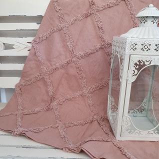 Plaid Decke Baumwolle Rosa 125x150 cm
