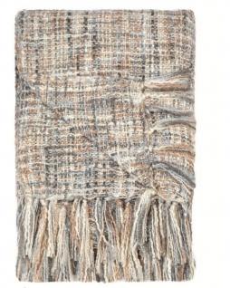 Plaid Kuscheldecke Knitted Look 150x220 Bleu