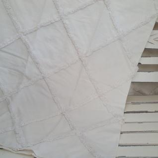 Plaid Decke Baumwolle Naturweiß 125x150 cm