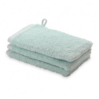 Waschhandschuh 3er Pack 16x22 London Aquanova Farbe Nebelgrün