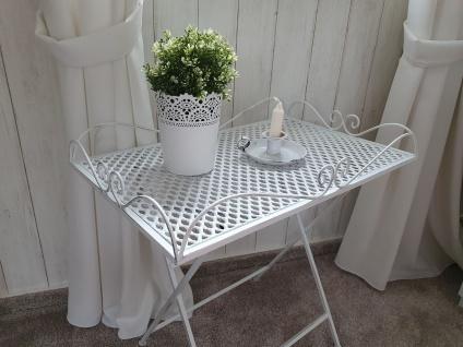 Tisch Beistelltisch Gartentisch Dekotisch Eisen Vintage Weiß 60 x 40 x 60 cm