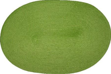 Tischset grün oval geflochten Platzset Anis Hellgrün