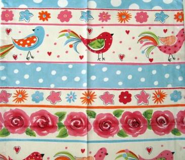 Tischdecke Dornenvögel Bunt 85x85