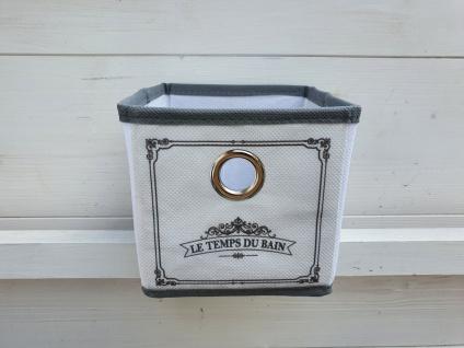 Aufbewahrungsbox Schrankkorb Set 3 Stück Weiß Grau Vintage 12 x 12 x 12 cm