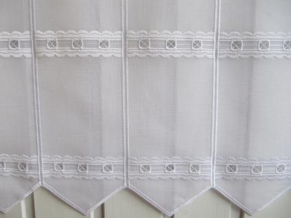 Scheibengardine Weiß Lochstickerei H 45 / Br. ab 1 Meter