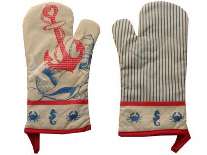 Ofenhandschuh Nordischer Stil Nautic mit Teflonbeschichtung Rechte oder Linke Hand 18x30