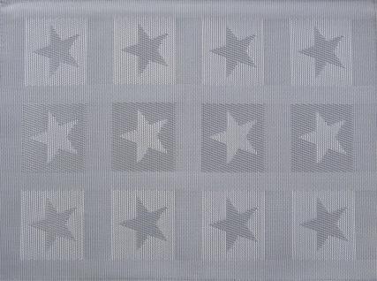 Tischset Platzmatte Sterne Stars PVC 33x45 Orange Taupe Grün Ecru Grau