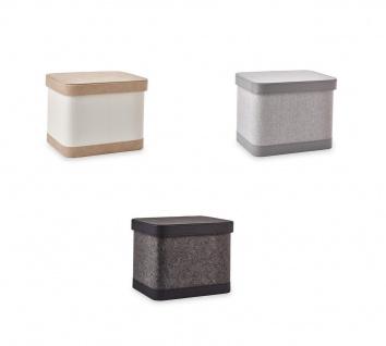 Aufbewahrungsbox Schrankbox mit Deckel Aquanova Blix mit Kunstleder in 3 Varianten