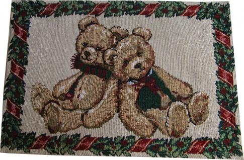 Platzmatte Weihnachten Teddybär 2 Stück 35x50