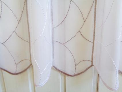 Scheibengardine Stick Taupe Graphisch 30 cm 45 oder 60 cm Hoch ab 1 Meter