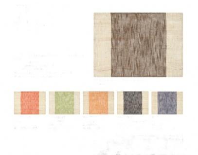 Tischset aus Ramiefaser und Baumwolle ca 45x33 cm Orange, Terra, Schoko, Marine, Carbon, Anisgrün