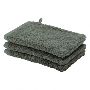 Waschhandschuh 3er Pack 16x22 London Aquanova Farbe Forest