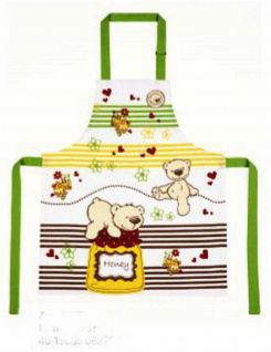 Kochschürze für Kinder Kinderschürze Honey Bear 52x63