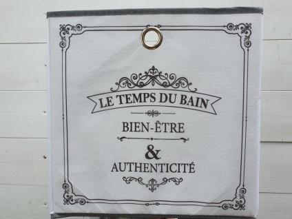 Aufbewahrungsbox Schrankkorb Weiß Grau Vintage 31 x 31 x 31 cm
