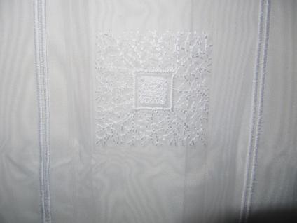 Scheibengardine hochwertig Stickerei Weiss 45 cm H oder 60 cm H/ Br. ab 1 Meter