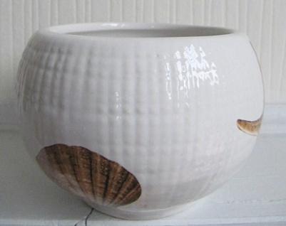 Zahnputzbecher Muscheln Seesterne Creme Sea Keramik