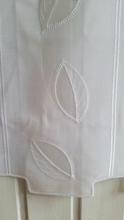 Scheibengardine hochwertig Stickerei Blatt 45 cm H oder 60 cm H/ Br. ab 1 Meter