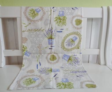 Tischläufer Landhaus LAVENDEL Lavendelblüte Kräuter Herbs Provence Natur 50x150