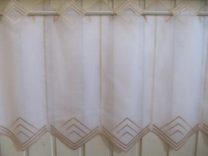 Scheibengardine Weiß, weiß matt oder Sekt zarter Stick 45 cm H / Br. ab 1 Meter - Vorschau 2