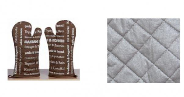 Ofenhandschuh Kräuter und mehr Taupe rechte oder linke Hand