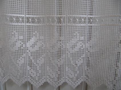 Scheibengardine Häkeloptik 45 oder 60cm H / Br. ab 1 Meter