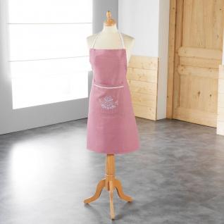 Schürze Küchenschürze Rosa Landhaus Shabby Chic 60x80