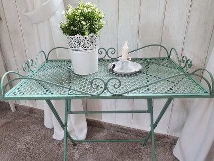 Tisch Beistelltisch Gartentisch Dekotisch Eisen Vintage Grün 60 x 40 x 60 cm