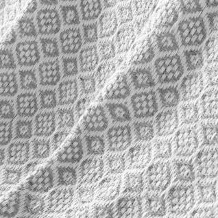 Plaid Grau mit Fransen Landhaus Baumwolle 125x150 cm