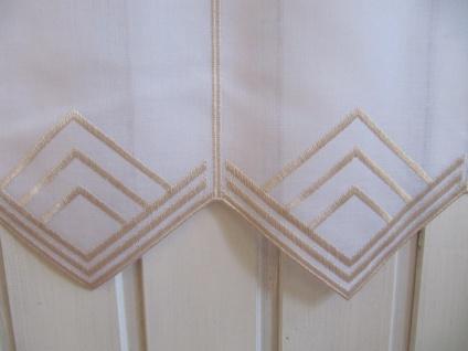 Scheibengardine Weiß, weiß matt oder Sekt zarter Stick 45 cm H / Br. ab 1 Meter