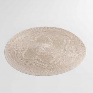 2 er Set Platzmatten Tischsets Taupe Vintage Shabby Chic Landhaus Ø38 cm
