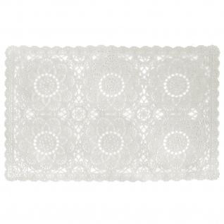 2 er Set Platzmatten Tischsets Weiß Vintage Shabby Chic Landhaus Häkeloptik PVC 30x45