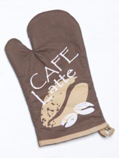 Ofenhandschuh Cafe Latte beige braun