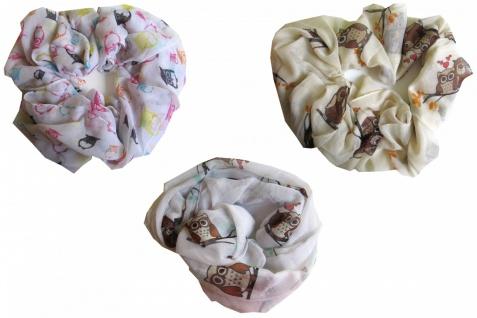 Loop Schal Schlauchschal Damen Motiv Eule verschiedene Farben