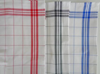 Geschirrtuch Gläsertuch wahlweise: Rot, Schwarz o. Blau Viskose aus Bambus
