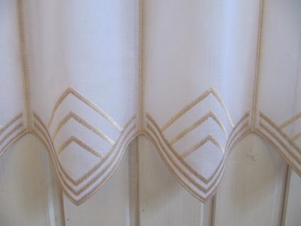 Scheibengardine Weiß, weiß matt oder Sekt zarter Stick 45 cm H / Br. ab 1 Meter - Vorschau 5