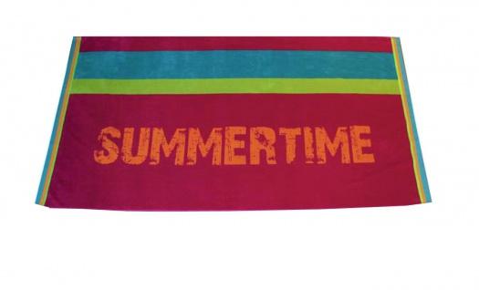 Strandtuch Pink Summertime 95x175 Veloursfrottier