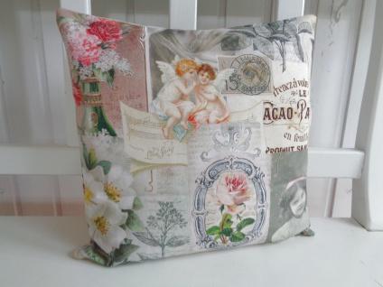 Kissen Romantik Nostalgie Natur Pastell 38x38 (für Füllung 40x40) ohne Füllung