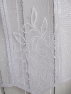 Scheibengardine Weiß durchbrochen H 30, 45 oder 60 cm / Br. ab 1 Meter