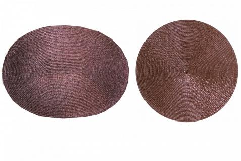 Tischset Platzmatte Braun Glitzer Weihnachten Rund oder Oval