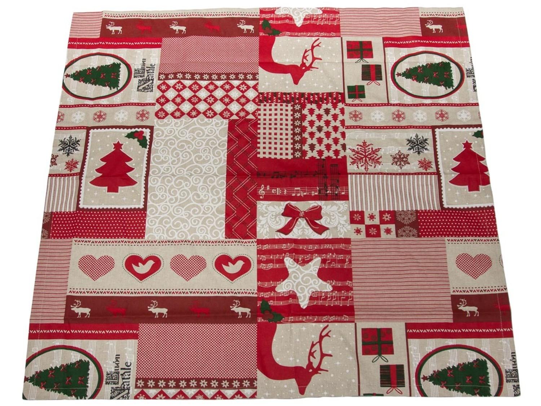 tischdecke weihnachten rot 85x85 weihnachtsmelodie kaufen bei frank williges bodenbel ge. Black Bedroom Furniture Sets. Home Design Ideas