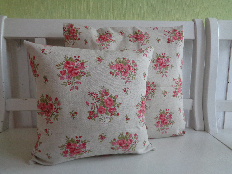 kissen kissenh lle landhaus shabby chic rosen r schen natur rosa 40x40 oder 50x50 kaufen bei. Black Bedroom Furniture Sets. Home Design Ideas