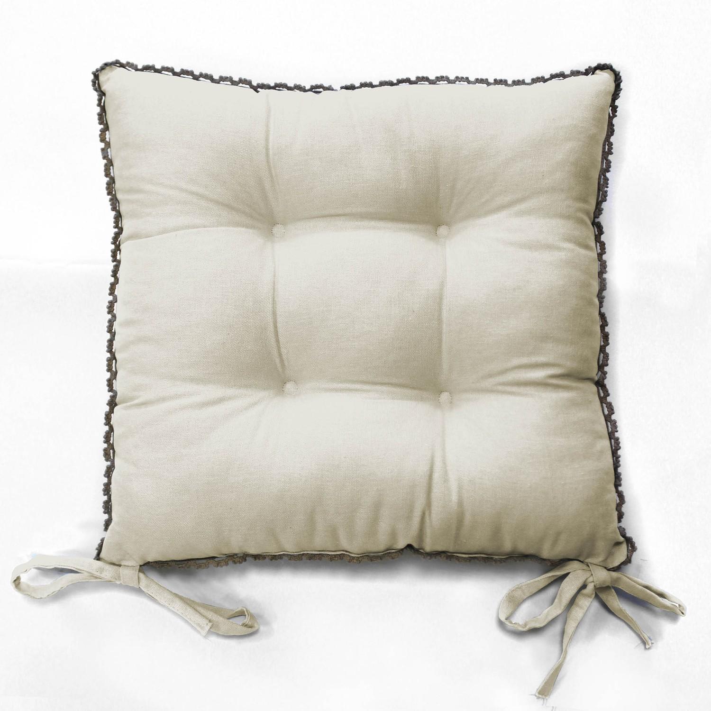stuhlkissen 2 er pack wei vintage landhaus shabby chic 40x40 mit h kelbord re kaufen bei. Black Bedroom Furniture Sets. Home Design Ideas