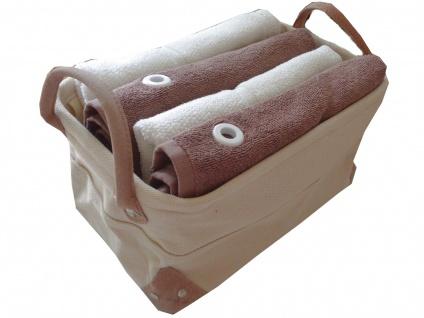 handtuch set 5 teilig 2x handtuch 55x100 elfenbein 2x g stetuch 50x50 mit se braun badkorb. Black Bedroom Furniture Sets. Home Design Ideas