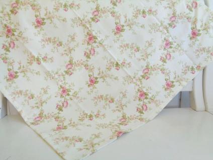 Tischdecke 85x85 Landhaus Rosen Rosa Shabby Chic Mitteldecke