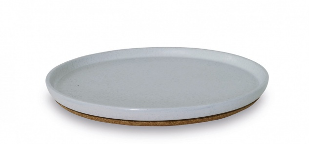 Kosmetiktablett Hellgrau Arona Aquanova Keramik mit Kork