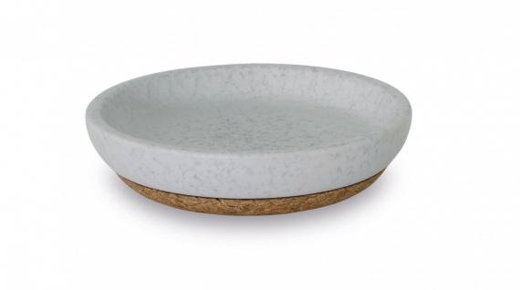 Seifenschale Schmuckschale Hellgrau Keramik Kork Arona Aquanova